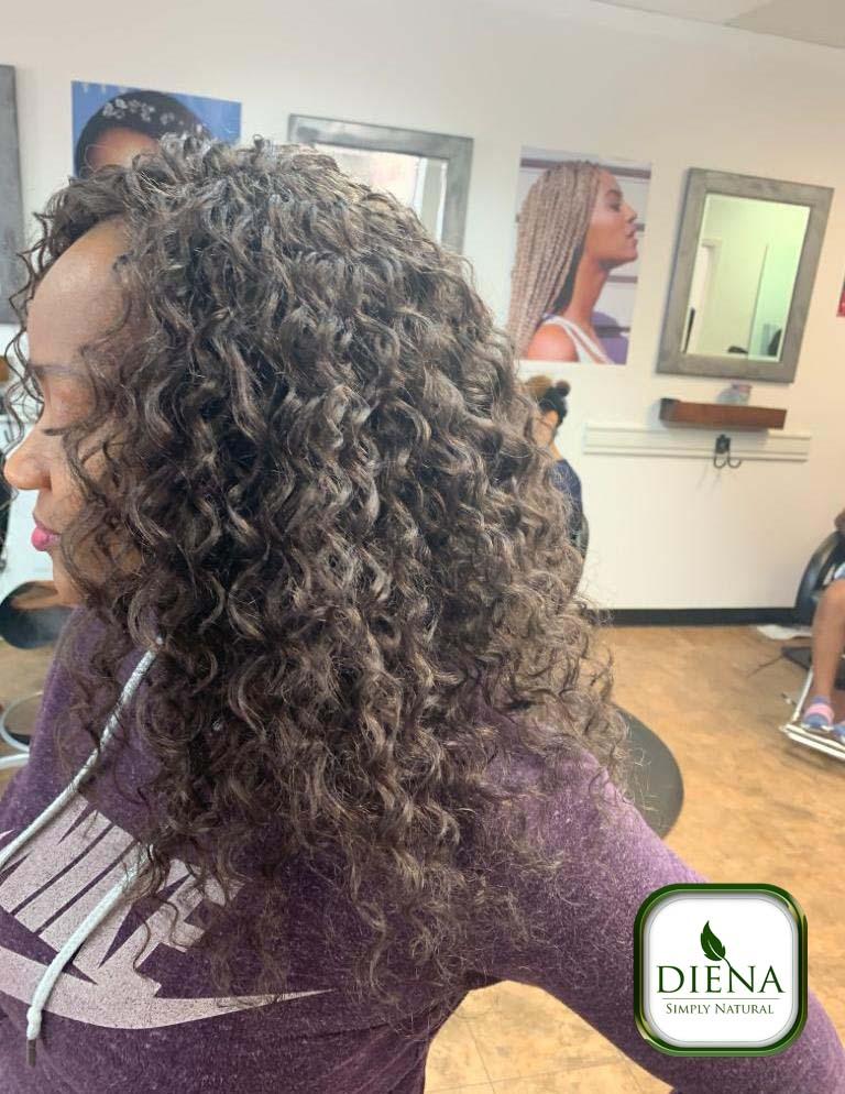 Crochet braids with Beach Curls Hair - DSN Braiding - Diena Simply Natural