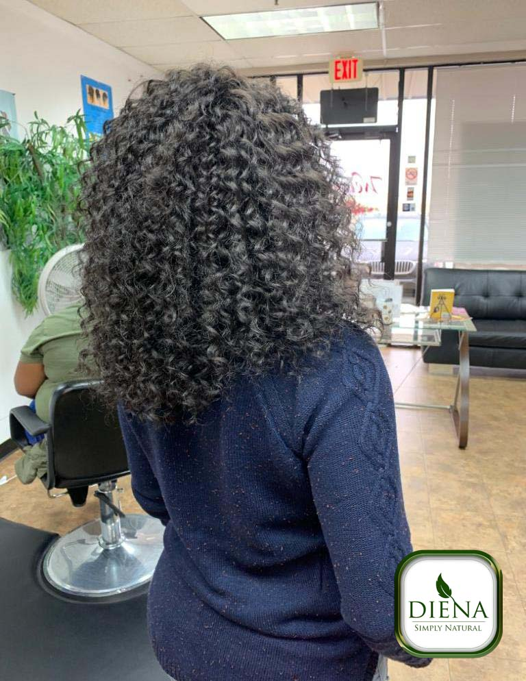 Crochet with Beach Curly Freetress Hair - DSN Braiding - Diena Simply Natural