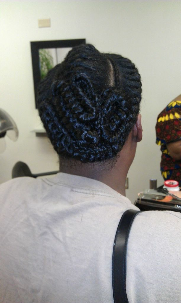 Goddess braids from Diena Simply Natural (DSN Braiding)