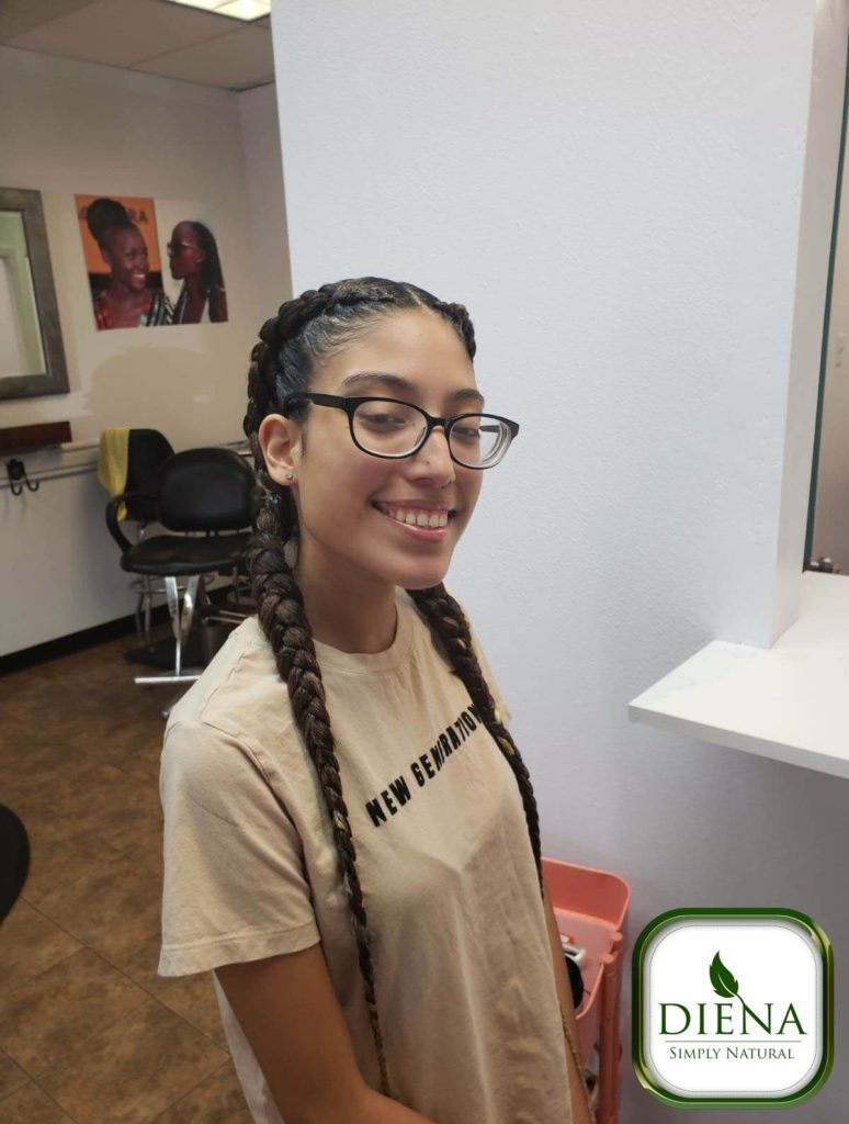 Two Feed In Braids - DSN Braiding - Diena Simply Natural